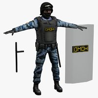 omon riot police 3d 3ds