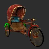 3ds max chinese rickshaw
