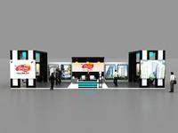 3d stall design exhibition model