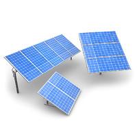solar panels 3d obj