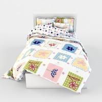 3d model of bed linen