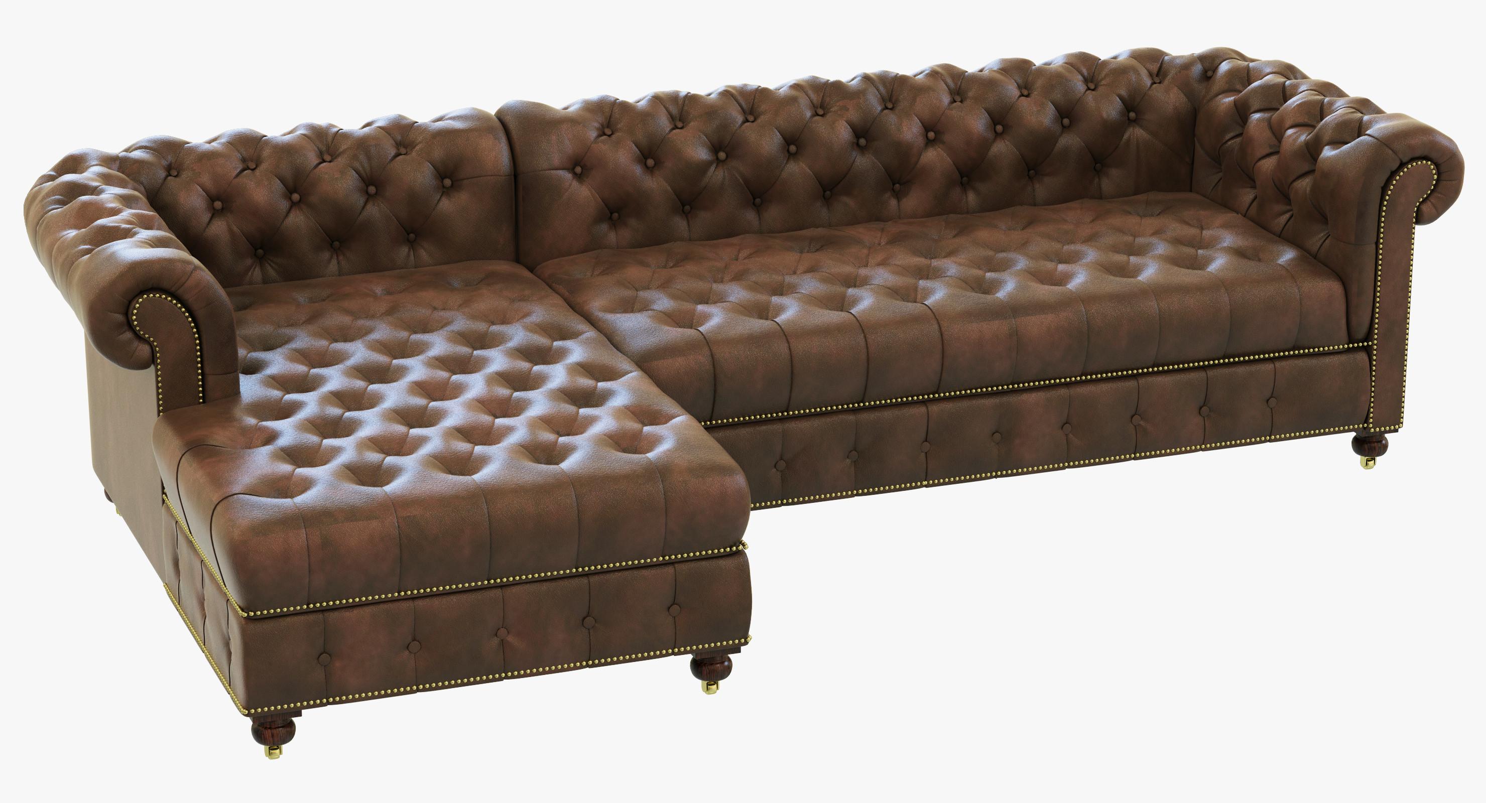 Restoration Hardware Cambridge Leather Left-Arm Sofa Chaise Sectional2.jpg