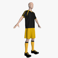 soccer uniform 3d max