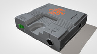 pc engine core grafx 3d model