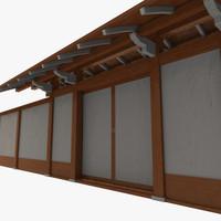 fbx modular asian wall