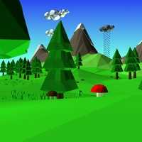 scenes cartoon landscape 3d model