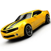 Chevrolet Camaro 2009 ( Convertible Concept ) Low Interior (Bumblebee)