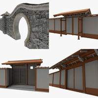 3d modular asian walls