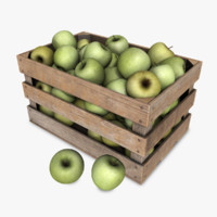 3d model crate apples