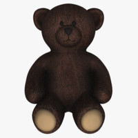 teddy bear 3d obj