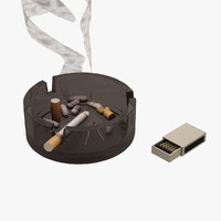 3d smoke cigarette cigar