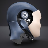 3d model of robot head