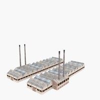 factory building 3d 3ds