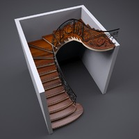 spiral stairs 3d max