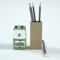 free sharpener pencil 3d model