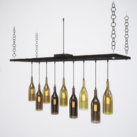 bottle light chandelier 3d fbx
