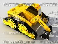 toy excavator module kit 3d max