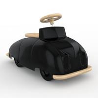 saab roadster toy car 3d model