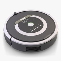 3ds max robot vacuum cleaner roomba