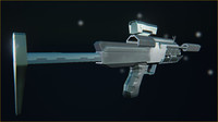 3d futuristic military 45 submachinegun