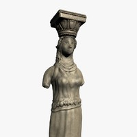 3d model caryatid column