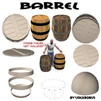 3d barrel modeled