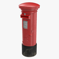 british post box 3d model