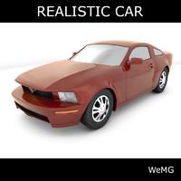 3d realistic car model
