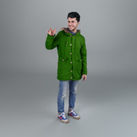 3d model man winter casual