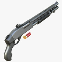 3ds max remington 870 shotgun