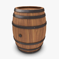 3d realistic barrel