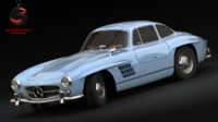 3d model of mercedes benz 300