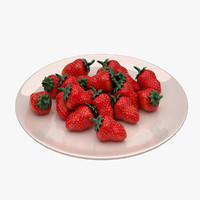 3d strawberry berry model
