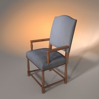 3ds chair upholstered armchair