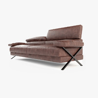 3d model of leather sofa