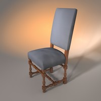 chair upholstered 3d 3ds