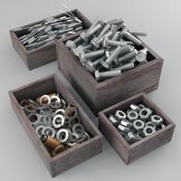 3d parts tools model