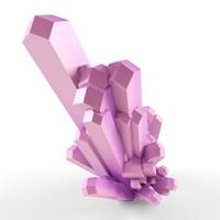 3d crystal assets model