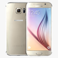 samsung galaxy s6 gold 3d model