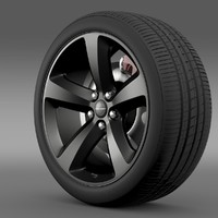 3d model chrysler 300s wheel