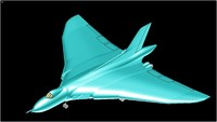 3d avro vulcan solid assembly