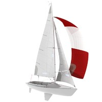 3d 3ds keelboat boat