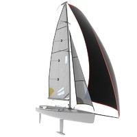 3d model of keelboat boat sport