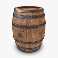 3d realistic barrel old