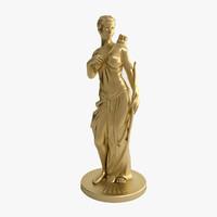 3d model woman arc statue