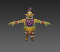 ugly character 3d model