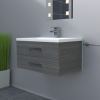 3d obj modern sink unit tap