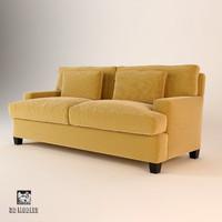 3d model baker 830-76 divan