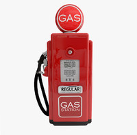 3d obj gas pump