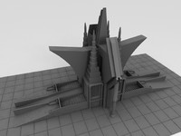 3d model sci-fi castle